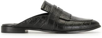Senso Slip-On Croc Effect Loafers