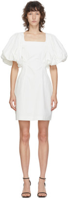 Edit White Balloon Sleeve Mini Dress