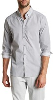 Kenneth Cole New York Long Sleeve Button Down Print Modern Fit Woven Shirt