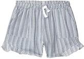 Tiny Whales Riptide Shorts (Toddler/Little Kids/Big Kids) (Navy Stripe) Girl's Shorts