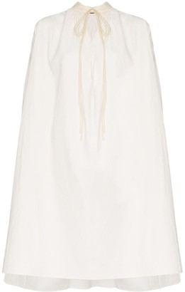Jil Sander tie-neck tent dress