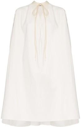 Jil Sander tie-neck tent dress