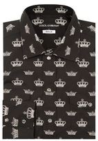 Dolce & Gabbana Western Crown Print Shirt