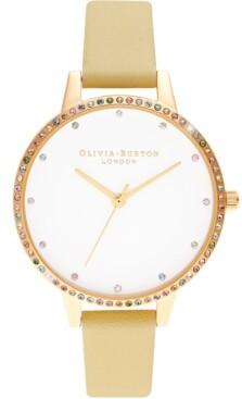 Olivia Burton Women's Sunshine Leather Strap Watch 34mm