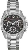 Wittnauer Womens Crystal-Accent Stainless Steel Bracelet Watch WN4040