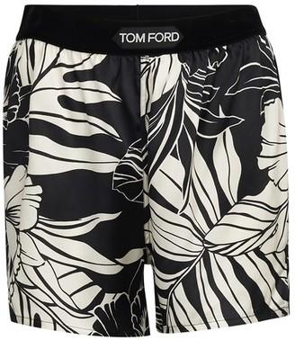 Tom Ford Floral printed silk satin shorts