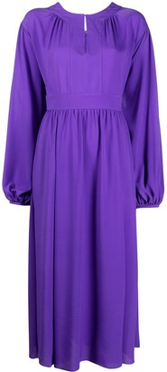 Diane von Furstenberg Balloon Sleeve Midi Dress