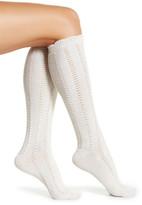 Shimera Ruffle Knit Knee High Socks