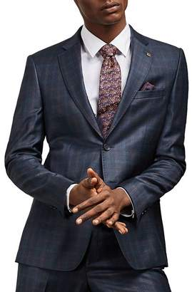 Ted Baker Haigj Checked Slim Fit Suit Jacket