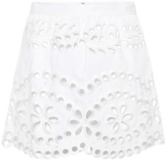 RED Valentino broderie anglaise cotton shorts