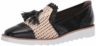 French Sole Women's Woven Smoking Slipper Loafer Flat