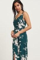 Dynamite Long Floral Halter Dress with Embellishment