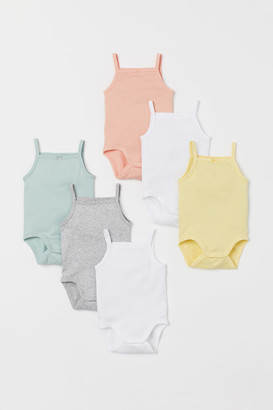 H&M 6-pack Sleeveless Bodysuits - Turquoise