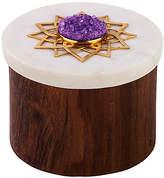 "Mela Artisans 3"" Noor Ring Box - Brown/White"