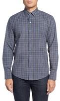 Zachary Prell Men's Jacobs Trim Fit Plaid Sport Shirt