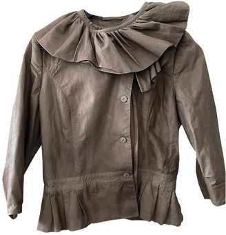 Anne Valerie Hash Leather Jacket for Women Vintage