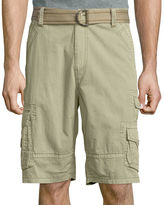 Plugg Cumberland Relaxed-Fit Lightweight Belted Twill Cargo Shorts