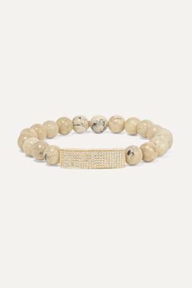 Sydney Evan 14-karat Gold, African Opal And Diamond Bracelet