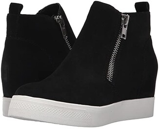 Steve Madden Wedgie Sneaker (Black Suede) Women's Shoes