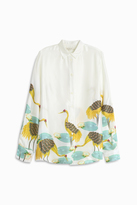 Paul & Joe Bird Print Satin Shirt