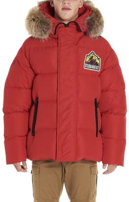 DSQUARED2 Logo Patch Down Jacket