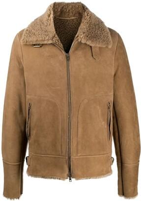 Salvatore Santoro Fur-Collar Zipped Jacket