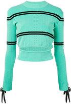 Fendi slit knit sweater - women - Polyamide/Polyester/Polyurethane/Viscose - 38