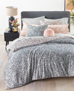 Whim by Martha Stewart Collection Reversible 3-Pc. Cheetah-Print Full/Queen Comforter Set, Created for Macy's Bedding