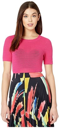 Milly Mesh T-Shirt (Guava) Women's Clothing