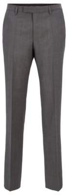 BOSS Regular-fit trousers in melange virgin wool