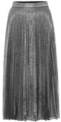 Christopher Kane High-rise lame midi skirt
