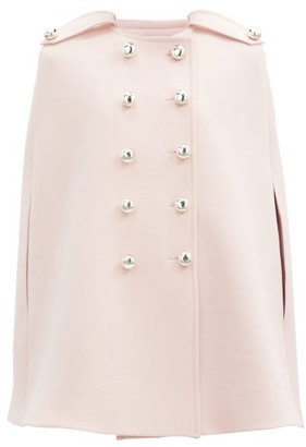 Giambattista Valli Double-breasted Twill Cape - Light Pink