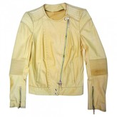 Roberto Cavalli Yellow Leather Leather Jacket for Women