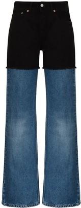 MM6 MAISON MARGIELA Two-Tone Straight-Leg Jeans