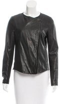 Vince Leather Wool-Paneled Jacket