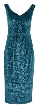 Dorothy Perkins Womens **Showcase Forest Green 'Vienna' Velvet Pencil Dress, Green