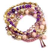 Riah Fashion Multi Bead Bracelet