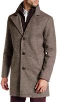 Kenneth Cole New York Layered Notch Collar Coat
