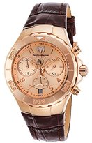 Technomarine Women's 'Eva Longoria' Quartz Gold and Leather Casual Watch, Color:Brown (Model: TM-416035)