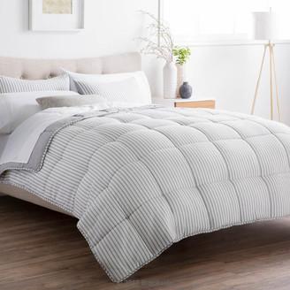 Brookside Striped Reversible Chambray Down Alternative Comforter Set,