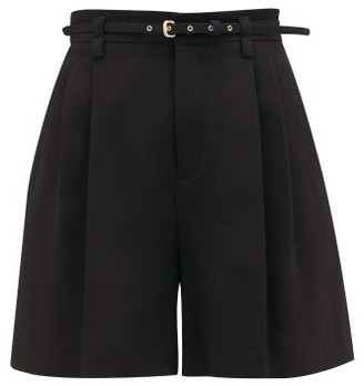 RED Valentino High-rise Tailored Crepe Shorts - Womens - Black