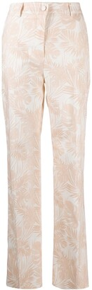 Hebe Studio The Printed Cotton Pink Lover Pants