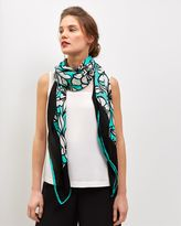 Jaeger Silk Floral Lace Scarf