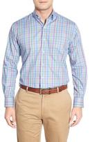 Peter Millar Pinwheel Glen Plaid Regular Fit Sport Shirt