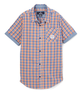 Buffalo David Bitton Orange Sun Levi Button-Up - Boys