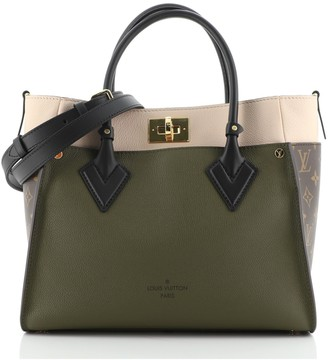 Louis Vuitton On My Side Tote Leather with Monogram Canvas