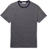 Sandro - Slim-fit Striped Slub Linen T-shirt