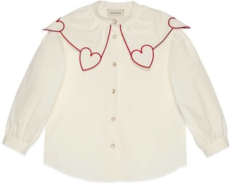 Gucci Children's cotton top with hearts