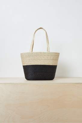 French Connection Summer Block Colour Straw Tote