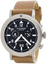 Filson Scout Dual Time Watch - 45.5mm, Leather Band (For Men)